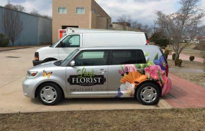 Lacy's Florist partial wrap full color print