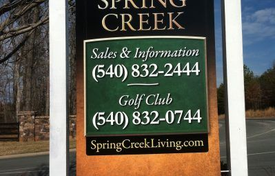 Spring Creek informational posted print sign