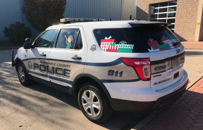 Albemarle PD full color Christmas print rear view
