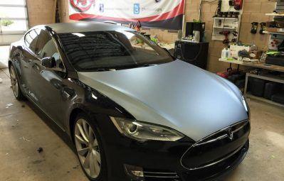 Tesla matte gloss metallic contrast wrap