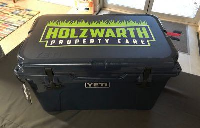 Holzwarth branded yeti cooler decal