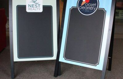 Multi business branded chalkboard a frames