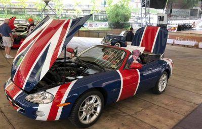 Austin Powers union jack flag wrap