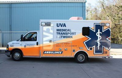 UVA Ambulance reflective modern partial wrap