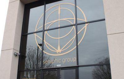 seraphic geometric large window decal
