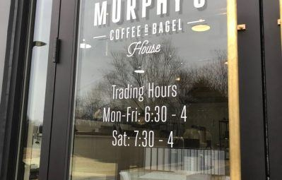 murphys coffee bagel business hours of operation lettering