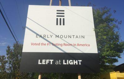 EMV Exterior aluminum directions signage