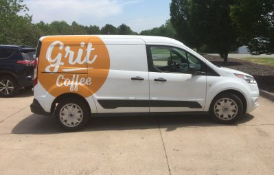 Grit Coffee vinyl decal partial wrap