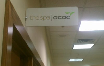 acac spa interior direct sign mount