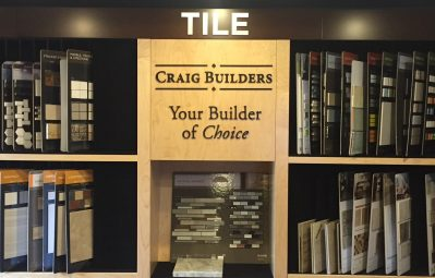Craig Builders interior 3d text with drop shadow