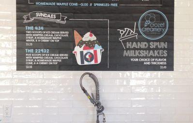 Crozet Creamery interior chalkboard menu print