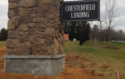 Chesterfield exterior direct mounted sign
