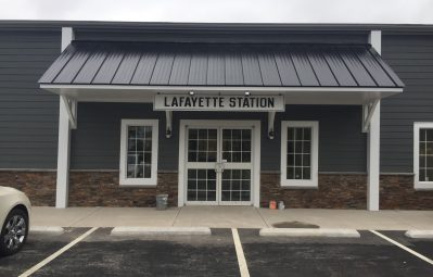 Lafayette Station external 3m entryway sign
