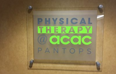 acac frosted glass appearance interior sign