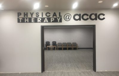acac physical therapy 3d full depth interior signage
