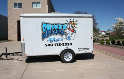 Shiver Shack full color print trailer driver-side view