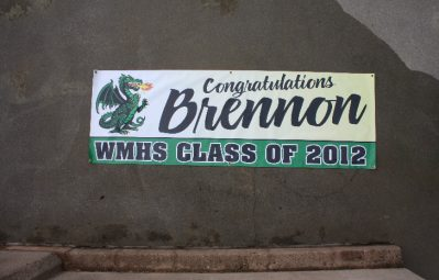 William Monroe High School graduation banner print full color vinyl