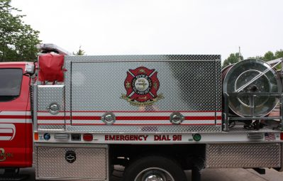 Dyke FD printed crest full color fire truck wrap