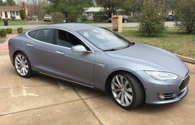 Matte metallic tesla wrap