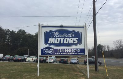 Monticello Motors exterior posted road print