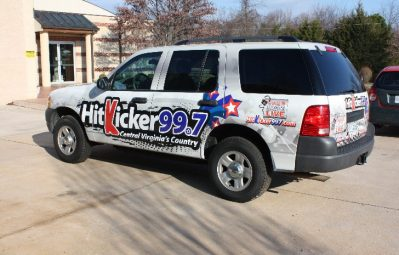 Hit Kicker 99.7 partial wrap full color print install