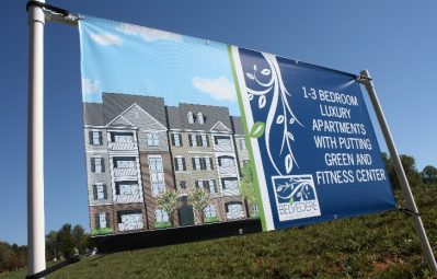 Belvedere real estate banner print temporary sign