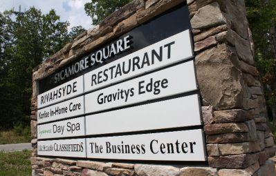 Sycamore Square strip mall modular multi business sign