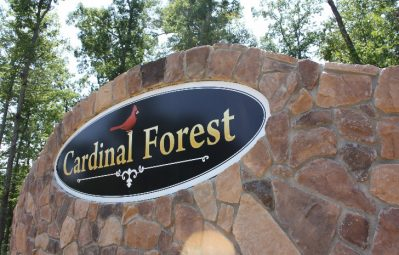 Cardinal Forest subdivision full color print