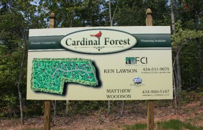 Cardinal Forest full color printed posted map