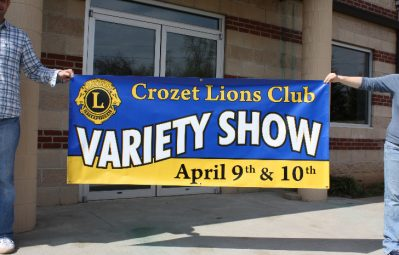 Crozet Lions Club event banner full color print