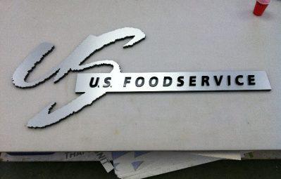 US Food service metallic 2 layer 3d interior sign