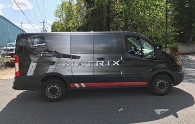 Matrix Fitness digital print full wrap passenger-side view