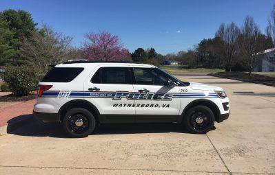 Waynesboro PD, reflective print passenger-side view