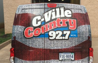 Cvile Country 92.7 American Flag full color print