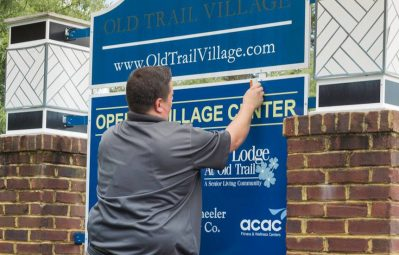 Old Trail exterior neighborhood sign installation